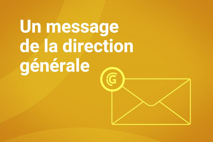 Un Message De La Direction Generale